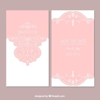Invitation rose pour un mariage