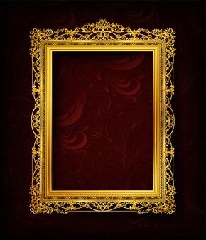 Invitation royale cadre photo doré avec coin