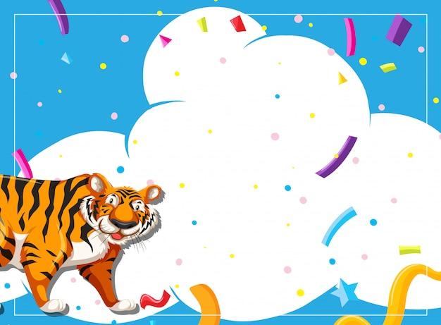 Invitation à une scène de soirée tigre
