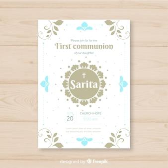 Invitation simple première communion