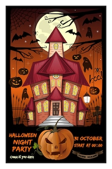 Invitation à une soirée d'halloween.