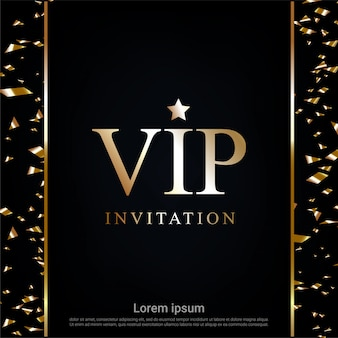 Invitation vip avec fond de ruban