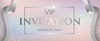 Invitation VIP membres seulement lettrage