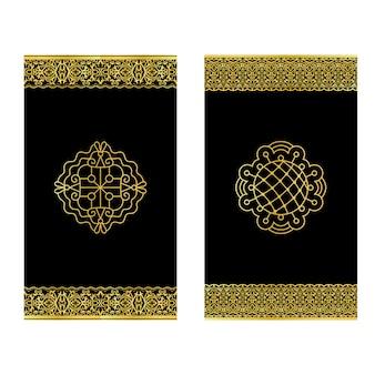 Invitations avec des bordures en dentelle dorée