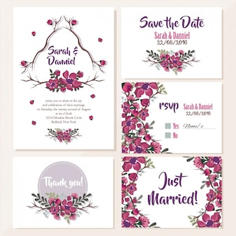 Invitations de mariage floral design