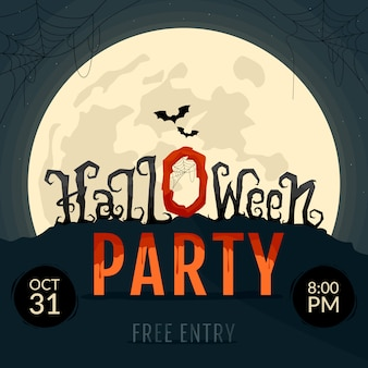 Invitations de fête d'halloween.
