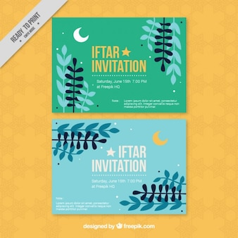 Invitations iftar ramadan jolies