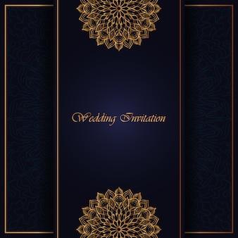 Invitations de mandala de luxe