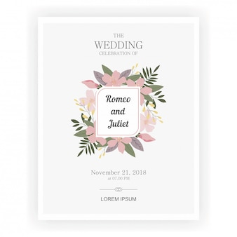 Invitations de mariage avec de beaux thèmes de fleurs