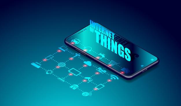 Iot internet des objets sur les applications de smartphone