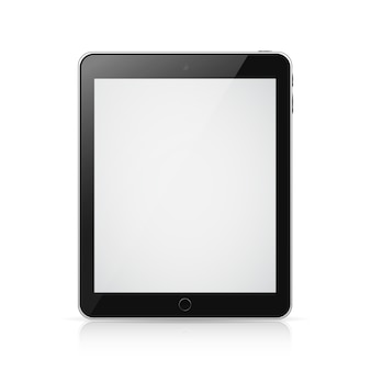 Ipad tablette avec écran blanc