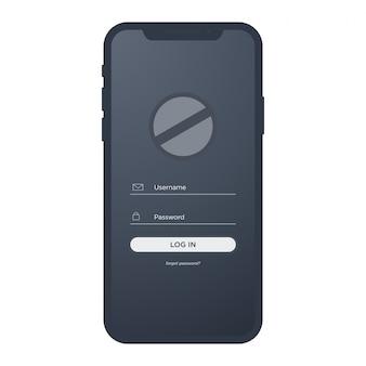 Iphone x mobile avec le kit de connexion ui