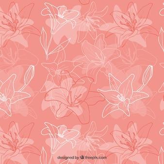 Iris sketchy motif de fleurs