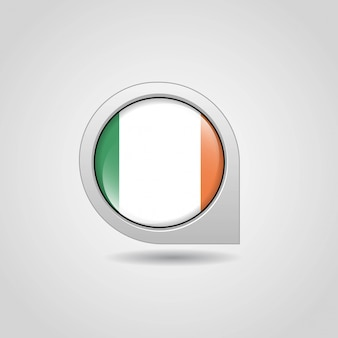 Irlande drapeau carte navigation design vecteur