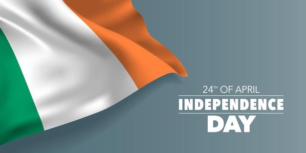 Irlande joyeuses fêtes commémoratives de l'indépendance le 24 avril design