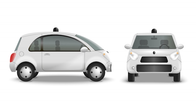 Isoler radiocommandé de route de voiture sur blanc
