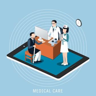 Isométrique du concept de soins médicaux