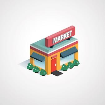 Isométrique du marché