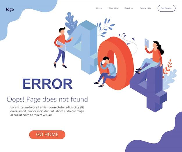 Isométrique erreur de travail non trouvée perdue non trouvée problème de signe 404