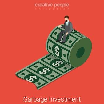 Isométrique plat investissement déchets déchets