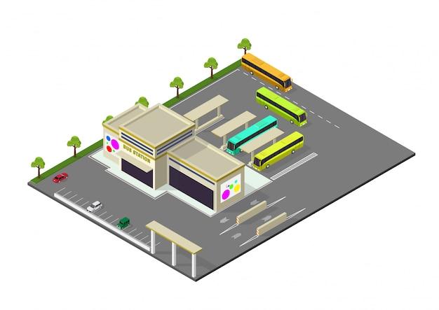 Isométrique représentant la gare routière