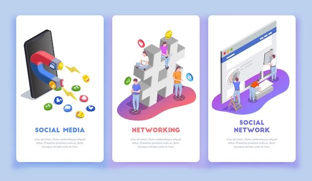 Isométrique de réseau social