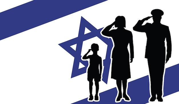 Israël soldat famille salut fond patriote