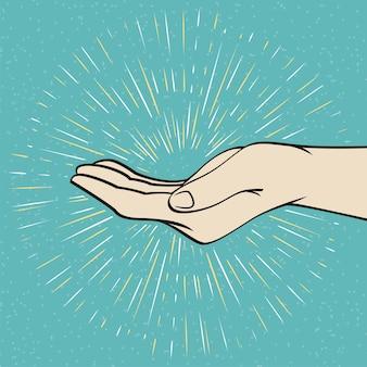Ive me main signe vector illustration