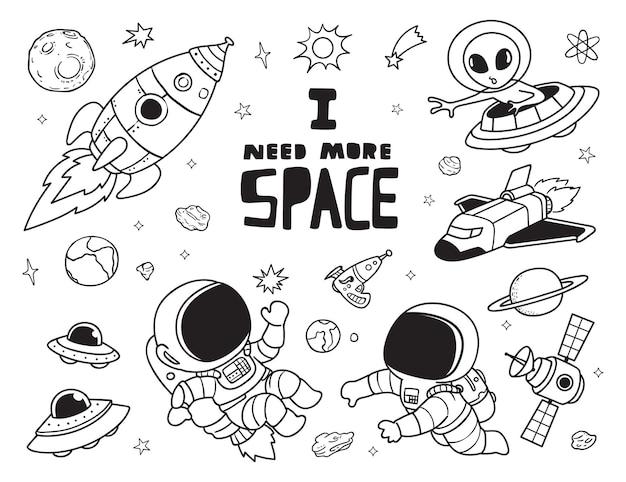 J'ai besoin de plus de griffonnages spatiaux