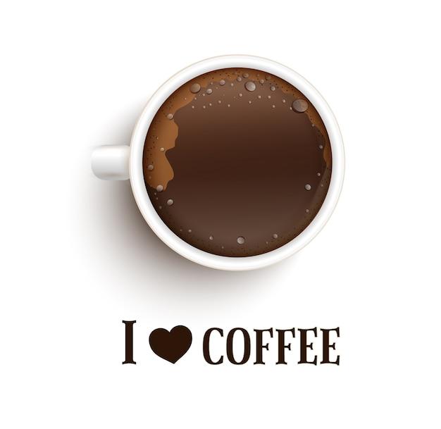 J'aime le café. un rendez-vous avec une tasse de café.