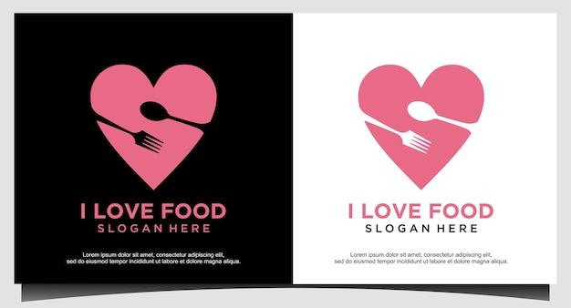 J'aime le modèle de conception de logo de nourriture