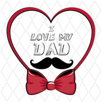 J'aime mon signe de papa avec coeur