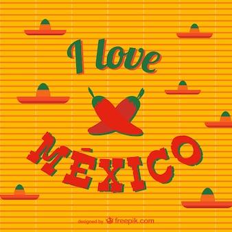 J'aime vecteur mexique