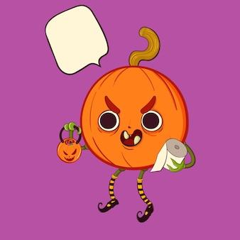 Jack la citrouille d'halloween tour ou traitement