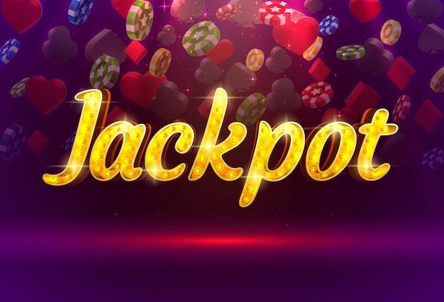 Jackpot casino coin cash machine jouer maintenant vecteur