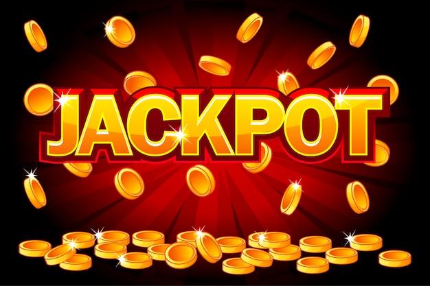 Jackpot et chutes de pièces d'or du haut