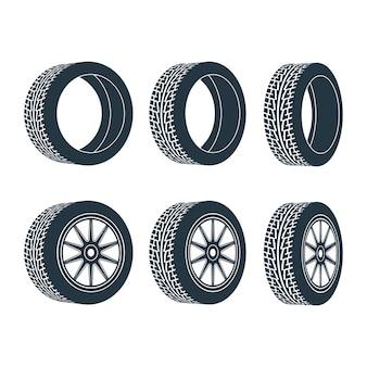 Jante de roue de voiture, pneus.