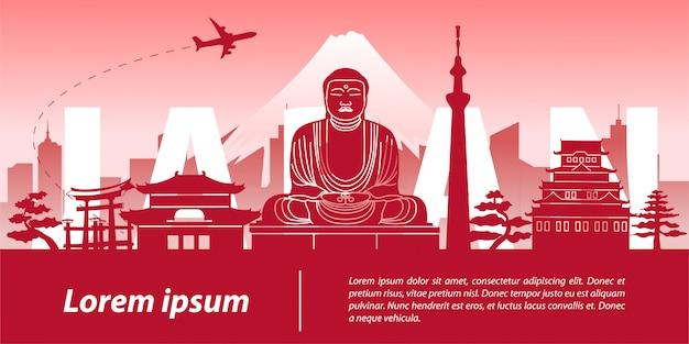 Le japon, célèbre monument