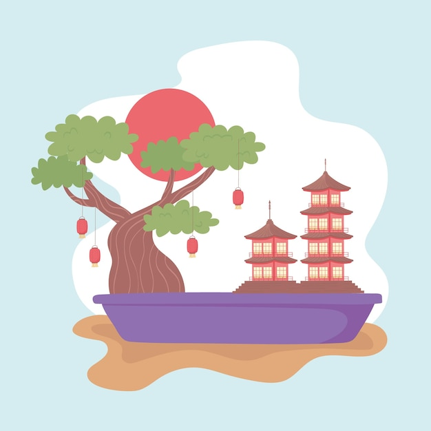 Japon paysage miniature