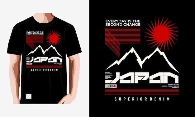 Japon typographie conception de t-shirt vecteur premium vecteur premium