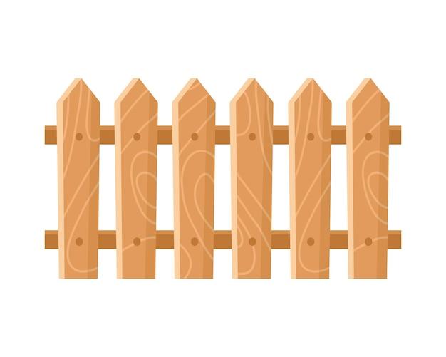 Jardin de clôture en bois