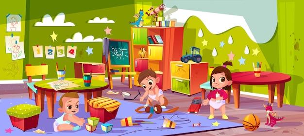Jardin d'enfants de dessin animé