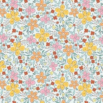 Jardin de printemps et motif de fleurs