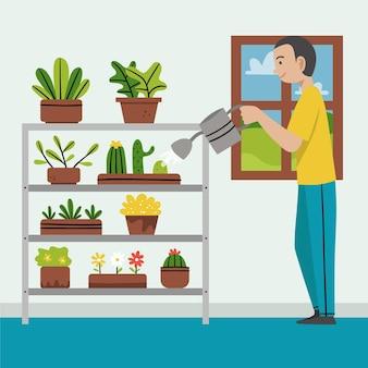 Jardinage à domicile concept