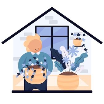 Jardinage à la maison illustration