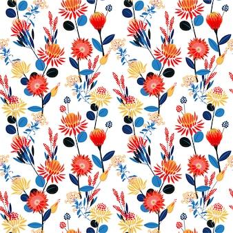 Jardins géométriques colorés fleurir floraison florales humeur modèle sans couture