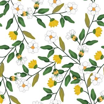 Jasmine floral seamless pattern