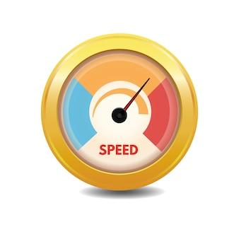 Jauge de vitesse de chargement