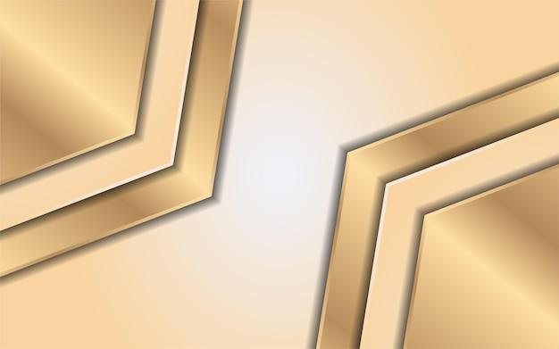 Jaune dégradé de luxe avec ligne or