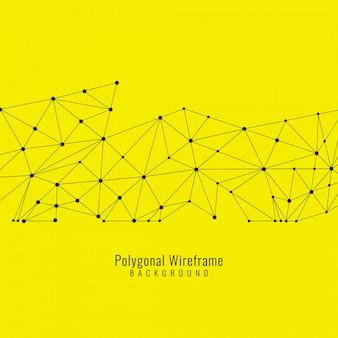 Jaune fond abstrait avec des lignes et des points, thème technologique